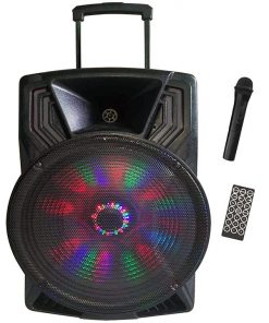 """Max Power Single 15"""" Woofer with built in Rechargeable battery & wireless mic"""