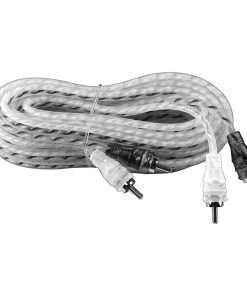 Max Power entry rca cable 20ft silver/black