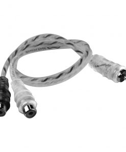Max Power entry rca cable 2 female silver/black