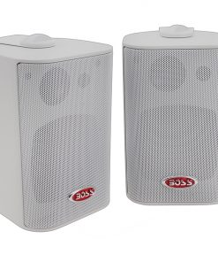 Boss 3-Way Indoor/Outdoor Speaker White