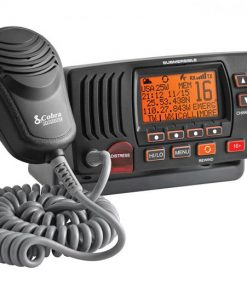 COBRA FIX MNT MARINE VHF RADIO W/ REWIND BLACK