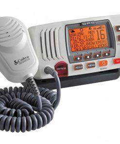 COBRA FIX MNT MARINE VHF RADIO W/ REWIND & GPS WHITE