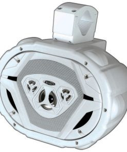 "Boss Marine 6x9"" 4-Way Wake Tower Speaker White"