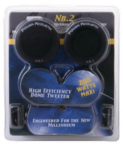 POWER ACOUSTIK TWEETERS (Sold in pairs) NIOBIUM 200WATTS; 3-WAY MOUNTING