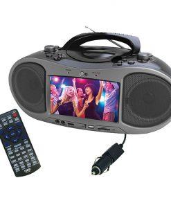 "Naxa Bluetooth DVD Boombox with built-in 7"" LCD screen"