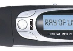Naxa MP3 PLayer 4GB Built in Flash Memory LCD display FM Radio Black