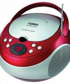 Naxa Portable CD Player with AM/FM Red(NPB251RE)