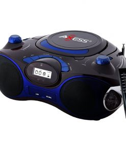 Axess Portable MP3/CD/USB/SD Boombox with AMFM Stereo Blue