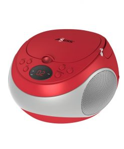 Axess Stereo CD Player AM/FM Radio LED Display Headphone Jack AC Power Batteries Not Included Red
