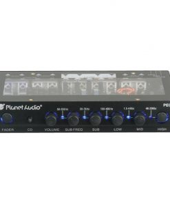 Planet 5 Band Equalizer Aux input master volume control half DIN size chassis