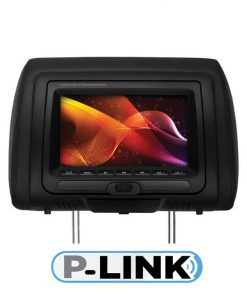 "Planet Audio 7"" Monitor in Headrest DVD USB/SD 3-color skins FM Modulated Wireless Remote"