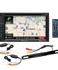 "Planet Audio 6.2"" Touchscreen D.Din with wireless Backup Camera GPS/BT/DVD/Remote"