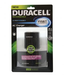 Duracell Dual USB AC Wall Charger (Black)