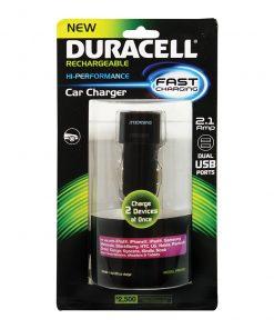 Duracell Dual USB Car Charger - Black