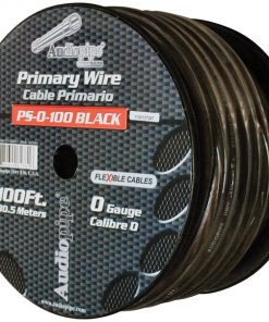 Audiopipe Flexible Power Cable 0 Ga. 100 Ft. Black
