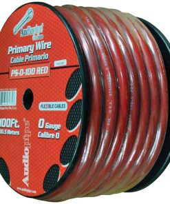 Audiopipe Flexible Power Cable 0 Ga. 100 Ft. Red