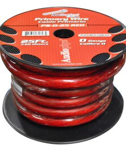 Audiopipe 25Ft 0Gauge Primary Cable Red