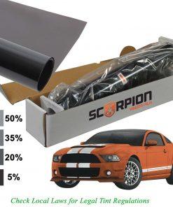 """Scorpion Window Tint Predator Series 2 ply 5% 20""""x 100' roll Deep Dye 3rd Gen. Lifetime Warranty"""