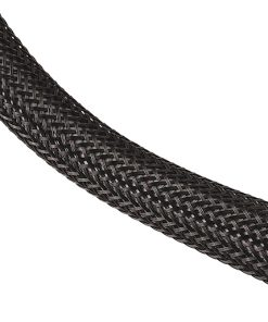 TechFlex 1/2 Inch 100 ft Black PET Expandable Braided Sleeving