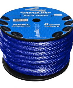 POWER WIRE 0GA. 100' BLUE AUDIOPIPE