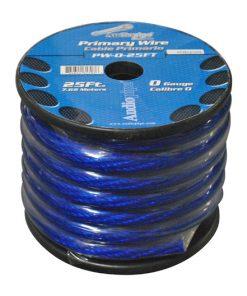 POWER WIRE AUDIOPIPE 0GA. 25' BLUE