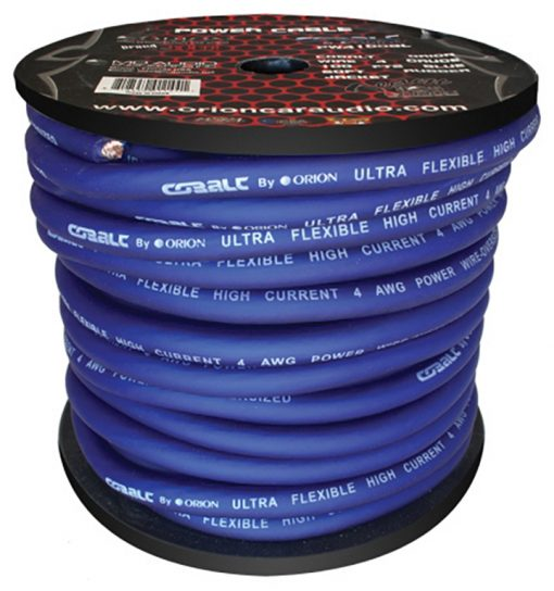 Cobalt Orion Wire 4 Gauge 100 FTS Blue