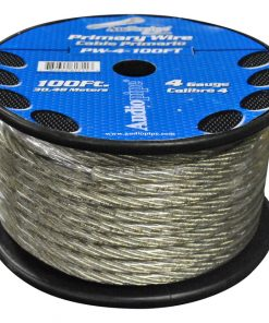 POWER WIRE AUDIOPIPE 4GA 100' SILVER