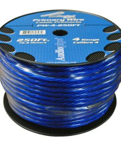 POWER WIRE AUDIOPIPE 4GA 250' BLUE