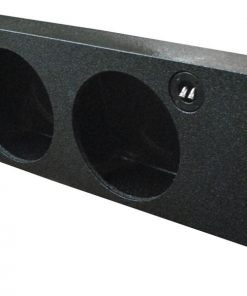 """Qpower Dual 10"""" Empty Woofer Box for 2009-14 Ford F150 Under seat downfire"""