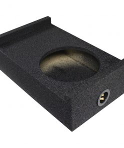 """Qpower Single 10"""" Universal Downfire or Behind the Seat Emplty Enclosure"""