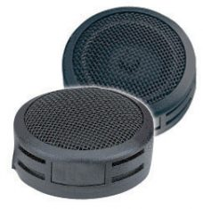 """QPOWER TWEETERS (Sold in pairs) 1"""" DOME  250W BLACK BLISTER PACKED"""