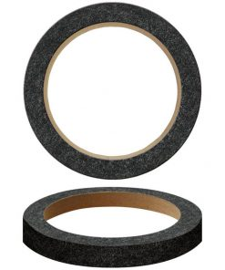 """Nippon 6"""" Wood Speaker ring with black carpet Sold in Pairs"""