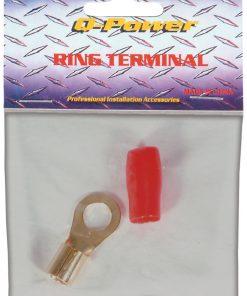 Qpower ring terminal 4 gauge red
