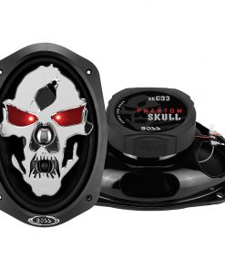 "Boss Phantom Skull 6x9"" 3-Way Speaker 600W Max"