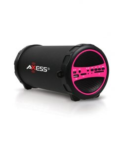 Axess Portable Bluetooth Indoor Outdoor-Pink-with Built In 3 Inch Sub