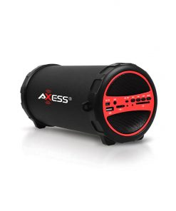 Axess Portable Bluetooth IndoorOutdoor Red with BuiltIn 3 Inch Sub