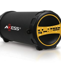 Axess Portable Bluetooth IndoorOutdoor Yellow with BuiltIn 3 Inch Sub