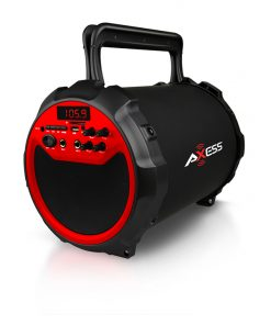 Axess RED Portable Bluetooth IndoorOutdoor 2.1 HiFi Loud SpeakerSing Along