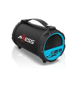 "AXESS Bluetooth In-Outdoor 2.1 Hi-Fi Cylinder Loud Speaker  Built-In 4"" Sub Blue"