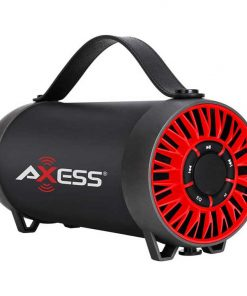 AXESS Portable Bluetooth Speaker Built-In Usb Support Fm Radio Line-In Function Rechargeable Battery