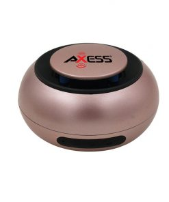 Axess Water Resist. Bluetooth Speaker Built In Rechargeable Battery & Aux Input Rose Gold