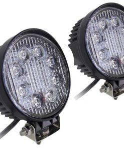 """Street Vision 4"""" Round Hi-Power LED 27W / 1755 Lumens *PAIR*"""
