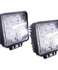 "Street Vision 4"" Square Hi-Power LED Work Spot Light 27W / 1755 Lumens (PAIR)"