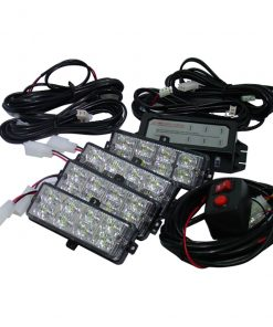 Street Vision (4) L.E.D Grill Strobe Light Kit—White*EACH*