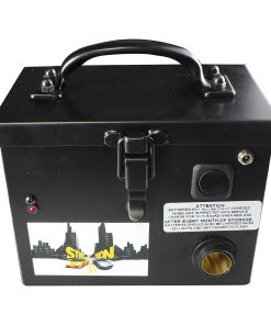Street Vision 12V Black Rechargeable Battery Box with Pigtail Plug & Clips