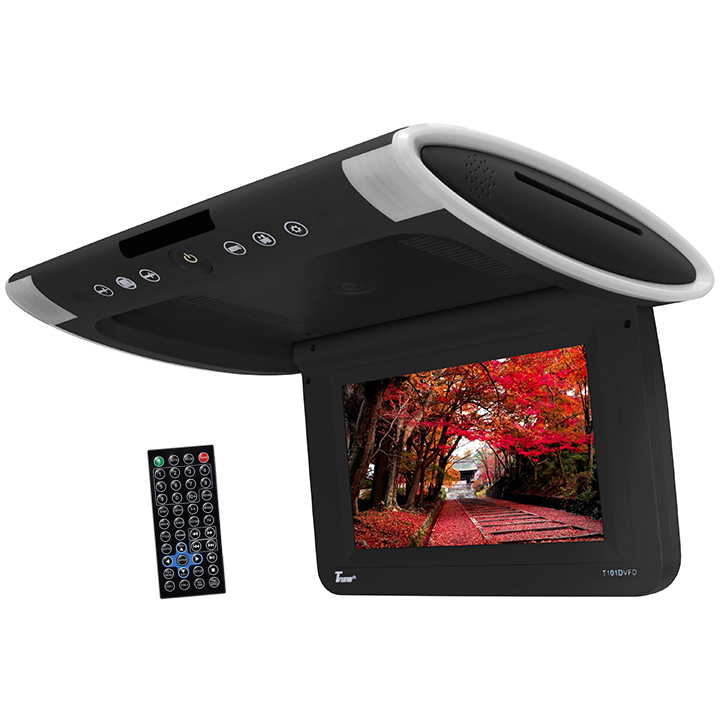 "Tview 10.1"" Wide Screen Flip Down w/Built in Slot Type DVD Player (Black)"
