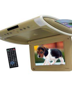 "Tview 10.1"" Wide Screen Flip Down w/Built in Slot Type DVD Player (Tan)"