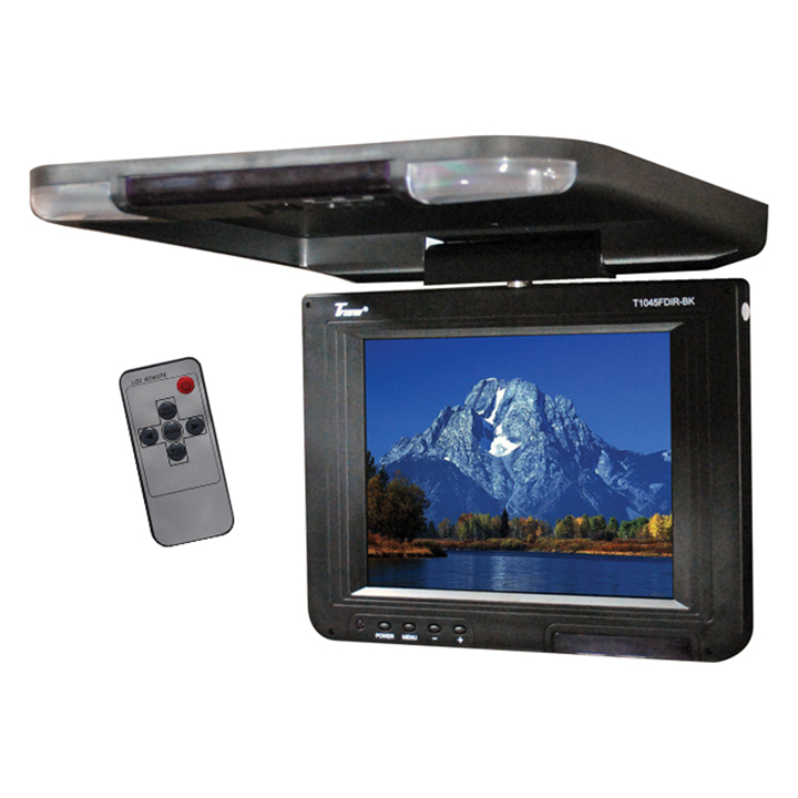 """Tview 10.4"""" Flip Down LCD Monitor Remote Black"""