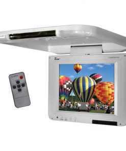 "Tview 10.4"" Flip Down LCD Monitor Remote Gray"