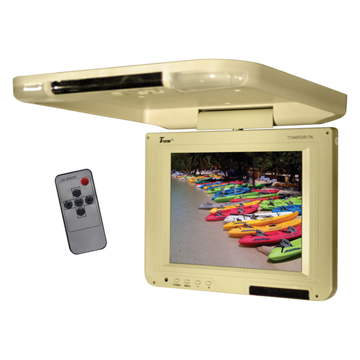 "Tview 10.4"" Flip Down LCD Monitor Remote Tan"